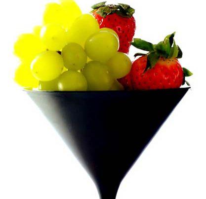 aardbeien en druiven